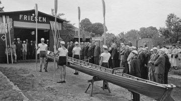 Das Friesen Bootshaus in Alt Pichelsdorf um 1955
